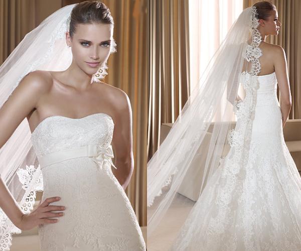 91457bb12 Cómo se coloca el velo de novia o la mantilla de novia  - EGOVOLO