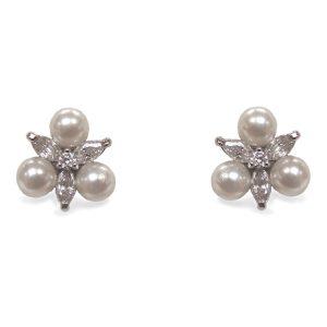 Pendientes de Novia Waterlily Pearl