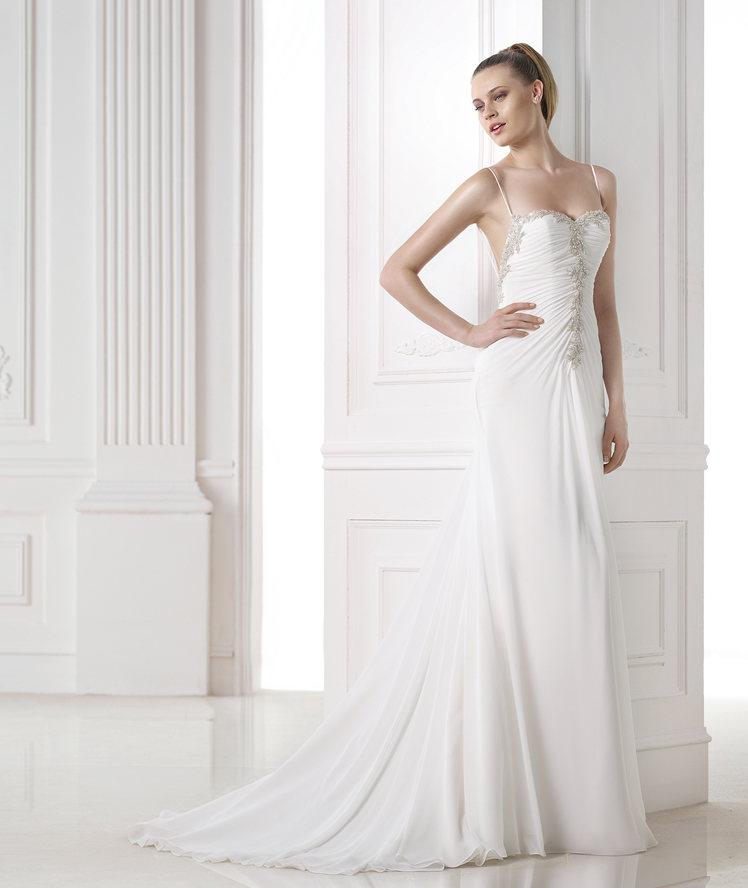 look de novia con el vestido maureen de pronovias - egovolo
