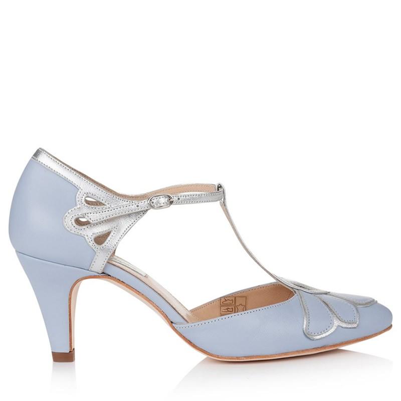 Novia Gardenia De Zapatos De Zapatos Azul 5RqL34Aj