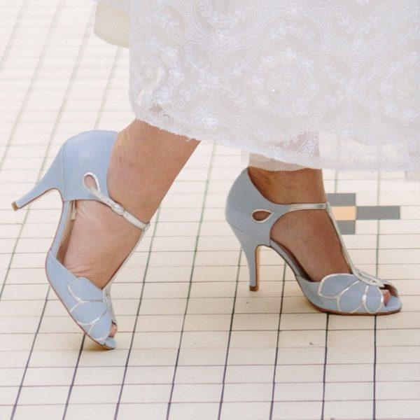 Sandalias de Novia Mimosa Azul