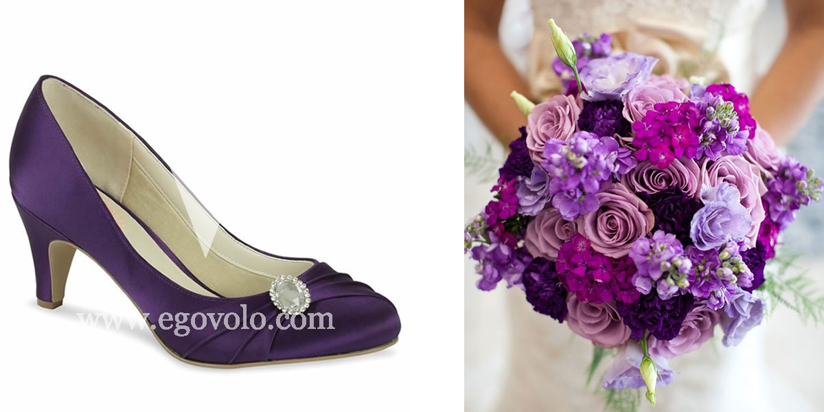 Zapatos de novia de color Violeta
