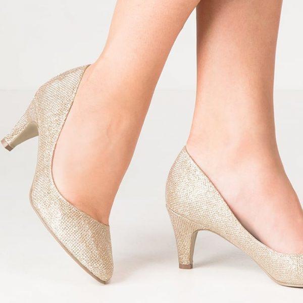 Zapatos de Novia Afection Oro